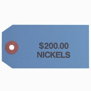 Coin Bag Tag - Nickels/$200/Blue