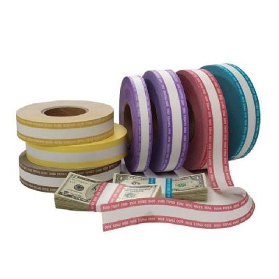 Currency Strapping Rolls, $1000 - Yellow/Orange