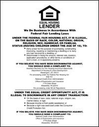 Equal Housing Lender, Credit Unions - SPANISH