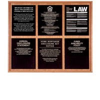Solid Wood Compliance Frame for 6 Signs