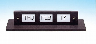 Anodized Aluminum Counter Calendars - Double Face - Gold/Black/White