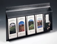 5 Pocket Pamphlet Dispenser - Black