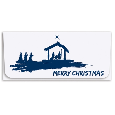 """""""Merry Christmas"""" Currency Envelope-Nativity"""