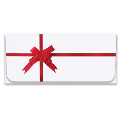 Holiday Currency Envelope - Red Ribbon