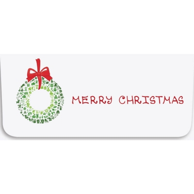 """""""Merry Christmas"""" Currency Envelope - Wreath"""