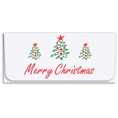 """""""Merry Christmas"""" Currency Envelope-Trees"""
