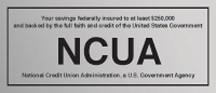 NCUA Wall Mount Sign-Silver