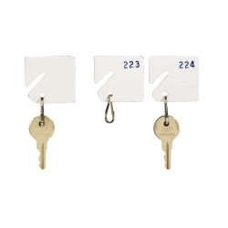 Numbered White Key Tags - #1-20