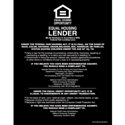 Equal Housing Lender, Credit Unions