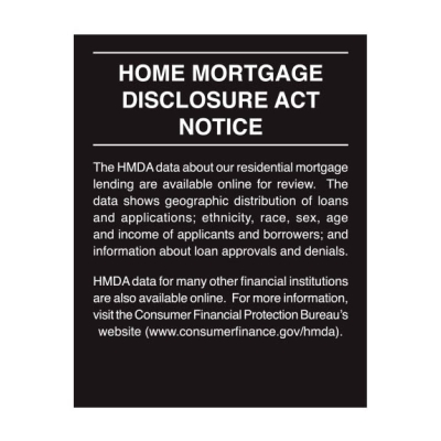 2018 Home Mortgage Disclosure Sign - 11 x 14 Acrylic