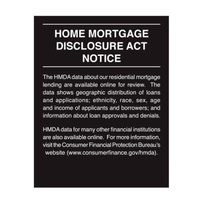 Home Mortage Disclosure Sign