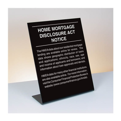 2018 Home Mortgage Disclosure Countertop Sign - 11 x 14 Acrylic