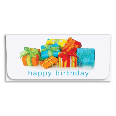 """Happy Birthday"" Currency Envelope - Presents"