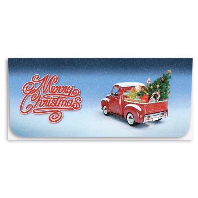 """Merry Christmas"" Currency Envelope - Red Truck"