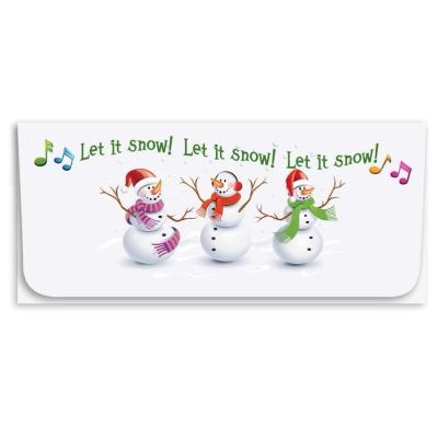 """Let It Snow"" Currency Envelope - Snowmen"