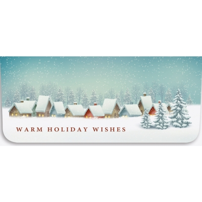 """""""Warm Holiday"""" Currency Envelope-Snow Village"""