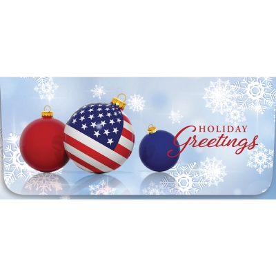 """Holiday Greetings"" Currency Envelope - Flag Ornament"