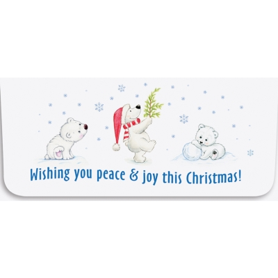 """""""Wishing You Peace"""" Currency Envelope - Bears"""