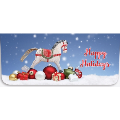 """""""Happy Holidays"""" Currency Envelope - Rocking Horse"""