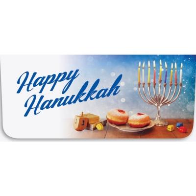 """""""Happy Hanukkah"""" Currency Envelope - Dreidel / Menorah"""