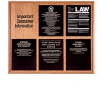 Solid Wood Compliance Frame for 5 Signs