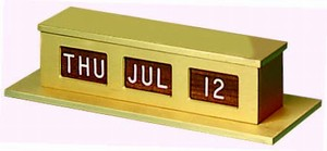 Self-Storing Counter Calendar - Double Face - Gold/Walnut/White
