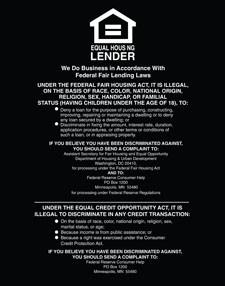 Equal Housing Lender, Federal Reserve - Magnetic