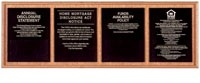 Solid Wood Compliance Frame for 4 Signs - Horizontal