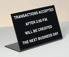 "Economical ""Deposits After"" Sign"