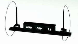 Replacement Insert Set: Day/Month/Date<BR>[Color: Black]