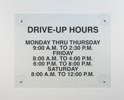 Acrylic Hours Display