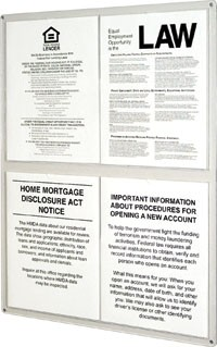 4 Pocket Acrylic Wall Frame For Paper Mandatory Signs