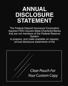 Annual Disclosure Statement, FDIC Banks (Non Fed. Reserve)