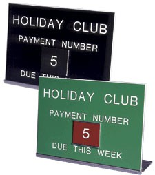 Holiday Club Payment Sign