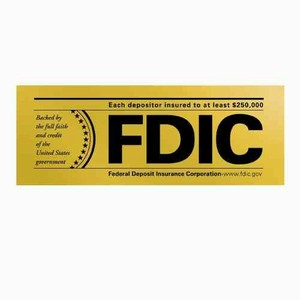 Two-Sided FDIC Window Decal