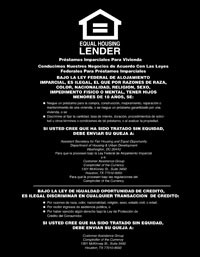 Equal Housing Lender, National Banks - SPANISH - Magnetic