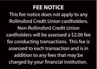 ATM Fee Notice Signage