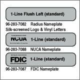 NCUA One Line Radius Nameplate