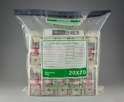 "20"" x 20""  ECO STAT Deposit Bag - Clear"