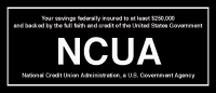 NCUA Wall Mount Sign-Black