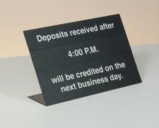 "Countertop ""Deposits After"" Sign Kit - BLACK"