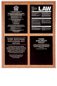 Solid Wood Compliance Frame for 4 Signs - Vertical