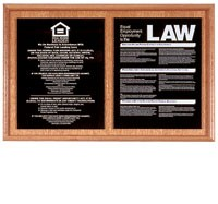 Solid Wood Compliance Frame for 2 Signs
