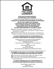 Equal Housing Lender, Federal Reserve - SPANISH