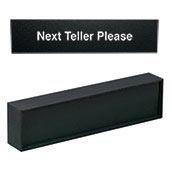 """Heavy Desk Bar """"Next Teller Please"""" Insert"""