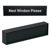 """Heavy Desk Bar """"Next Window Please"""" Insert"""