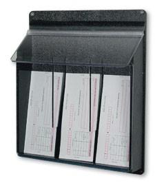 3 Pocket Pamphlet Dispenser - Black (3.5x7.5)