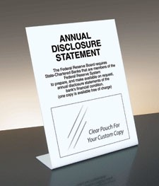 Annual Disclosure Statement, FDIC Banks (Fed. Reserve)