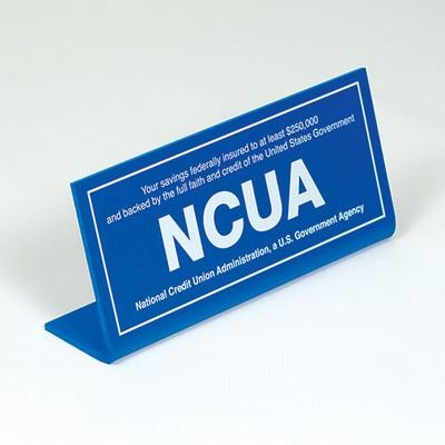 Economical NCUA Countertop Sign-Blue