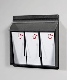 3 Pocket Pamphlet Dispenser - Black (4x9)